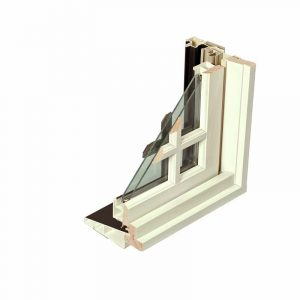 Double-glazed insulated fiberglass