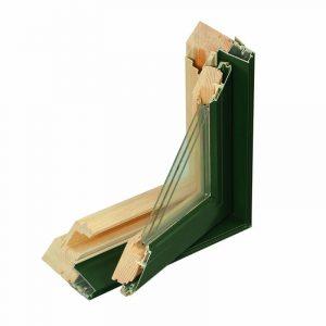 Triple-glazed aluminum-clad wood