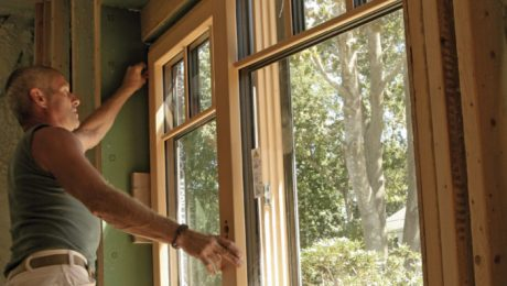 Installation of high-performance window