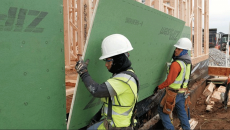 Zip System sheathing on exterior walls