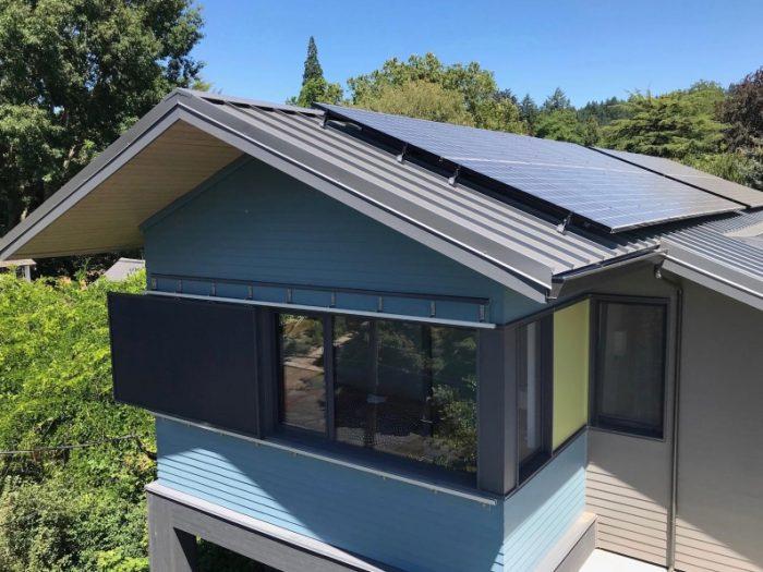 Solar array and custom shade screen