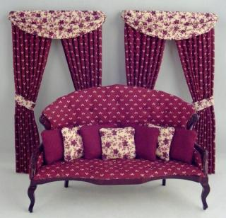 """The Duchess"" Parlor Set with Drapes, sofa"