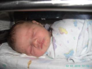 Riley first born picture