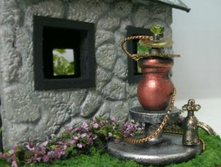 Quarter Scale Steampunk Fairy House Water Well Pump