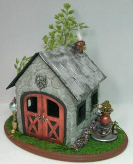 Quarter Scale Steampunk Fairy House