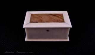 Ivory and olive wood box.