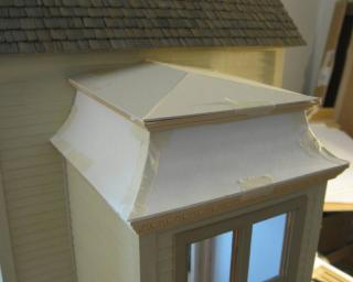 Mansard entry roof (down angle shot)