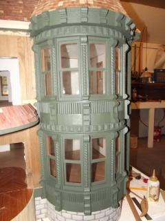 Round Section on the carson mansion 1/12 scale 2014