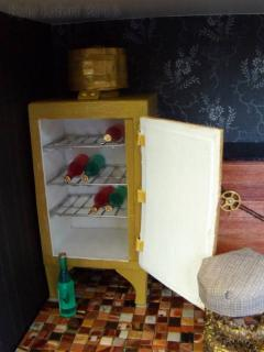 Steampunk House Kitchen Top Monitor Fridge Open