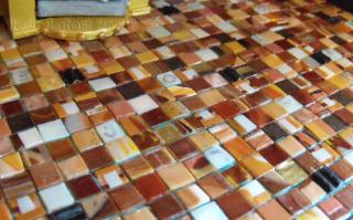 Steampunk House Kitchen Eclectic Tile Floor Detail