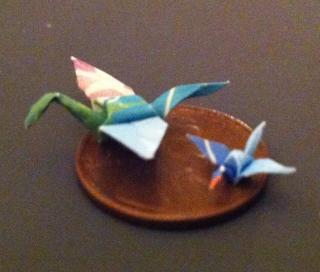 Origami Flying Cranes