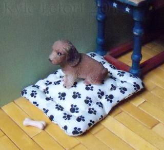 Miniature Dog Bed And Bone
