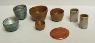 Rustic Miniature Bowls and Vases