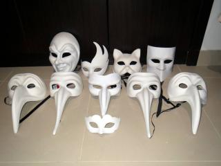 My real-life sized masks