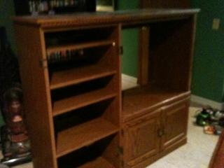 One old entertainment center