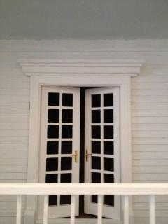 French door with hardware