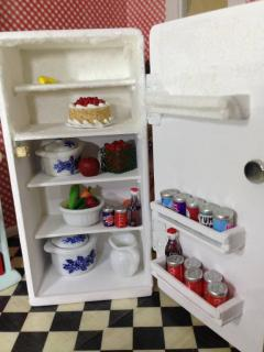 Refrigerator built from basswood