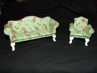 Dollhouse furniture makeover finished chairs