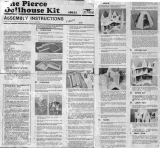 Pierce Dollhouse Kit Instructions Front Side