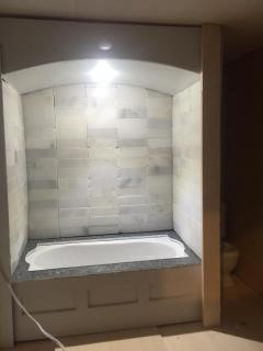 Tub with LED light