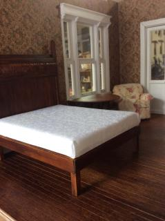 Queen size bed for the guest bedroom.