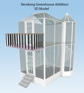 3D Model of Newberg Greenhouse Addition