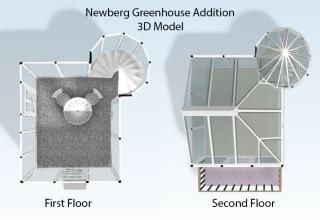 Top View of Greenhouse Addition 3D Model