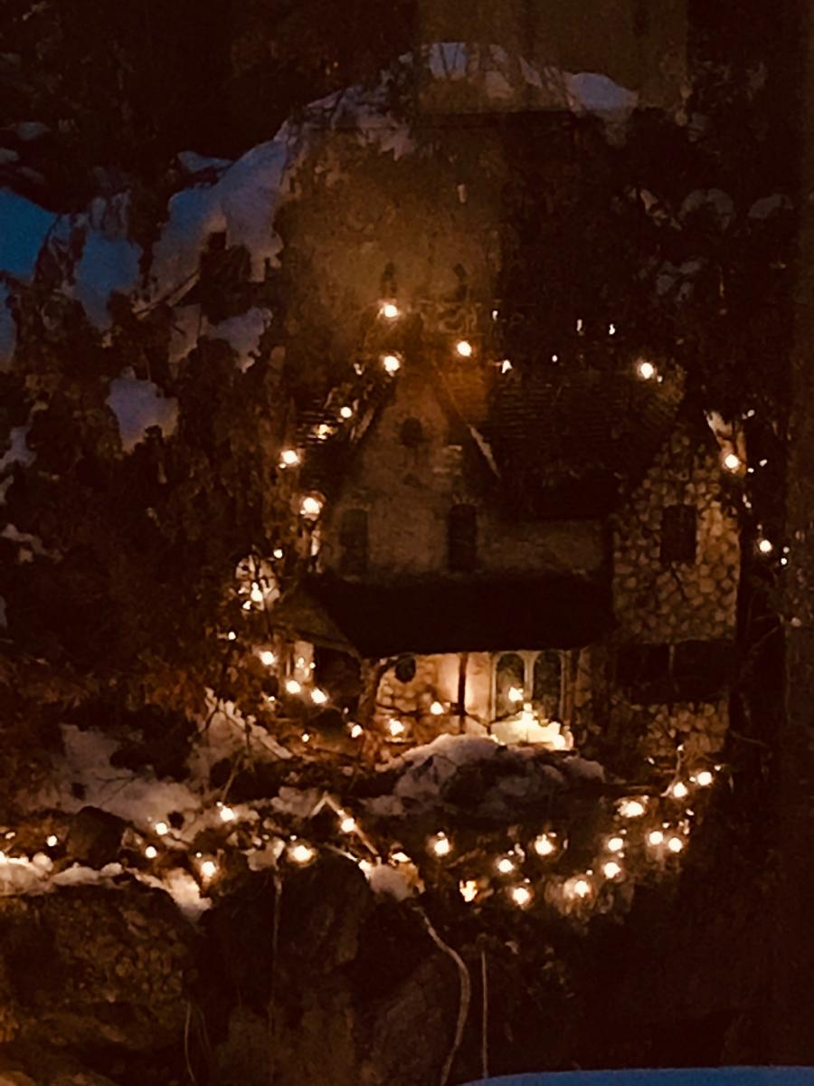 Fairy house and lights