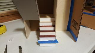 Painting/staining risers and treads