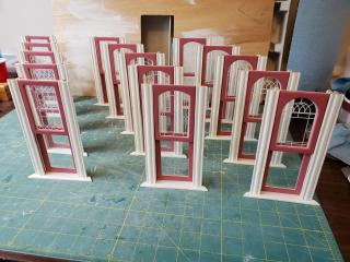 Assembled windows.