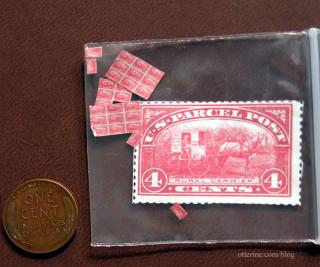 RFD Wagon on tiny stamps