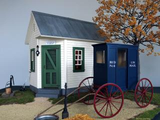 Ivy Hollow post office - RFD mail wagon