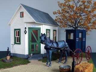 Ivy Hollow post office - Jebediah and the RFD mail wagon