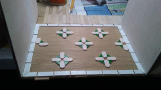 Painted them. I wanted to raise the floor up to level of popsicle sticks. Resin or paper clay?