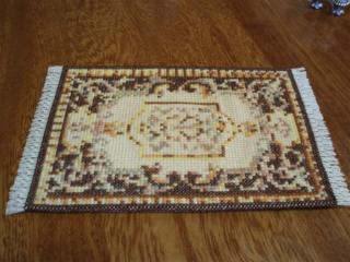 Cross stitched Rug