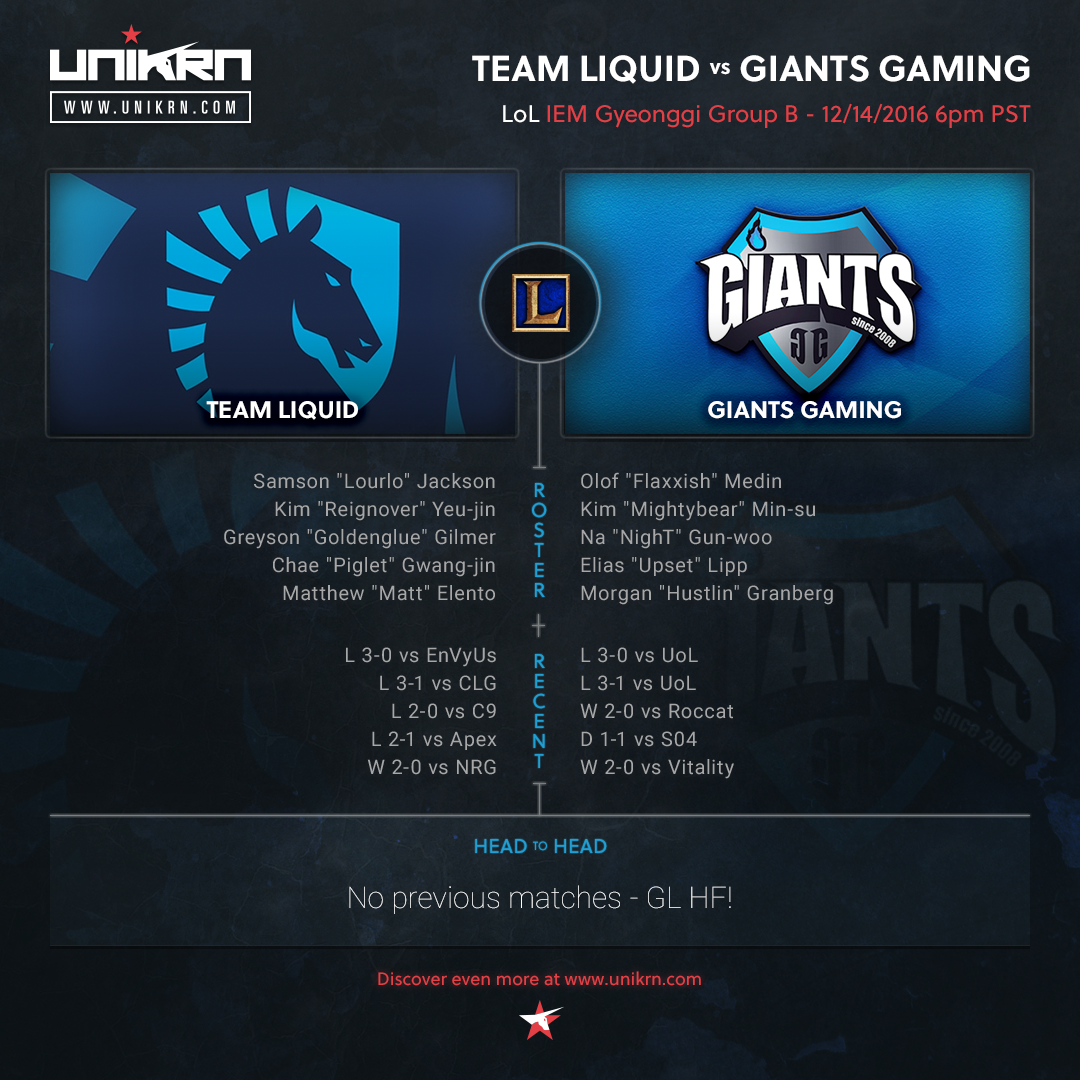 Team Liquid vs Giants Gaming at IEM Gyeonggi