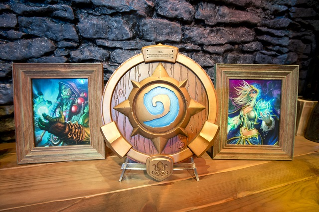 The Hearthstone World Championship trophy.