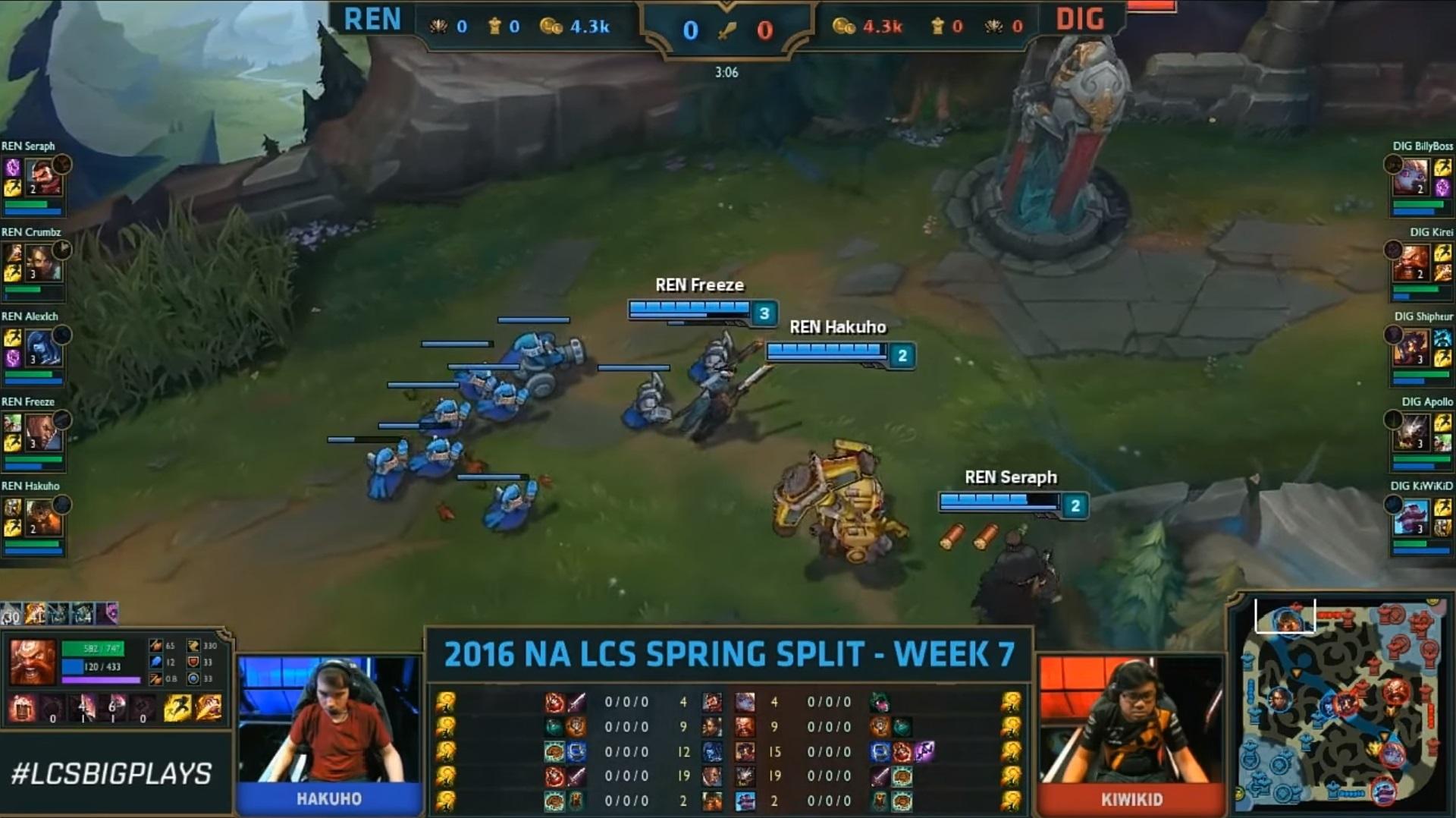 A lane-swap in League of Legends