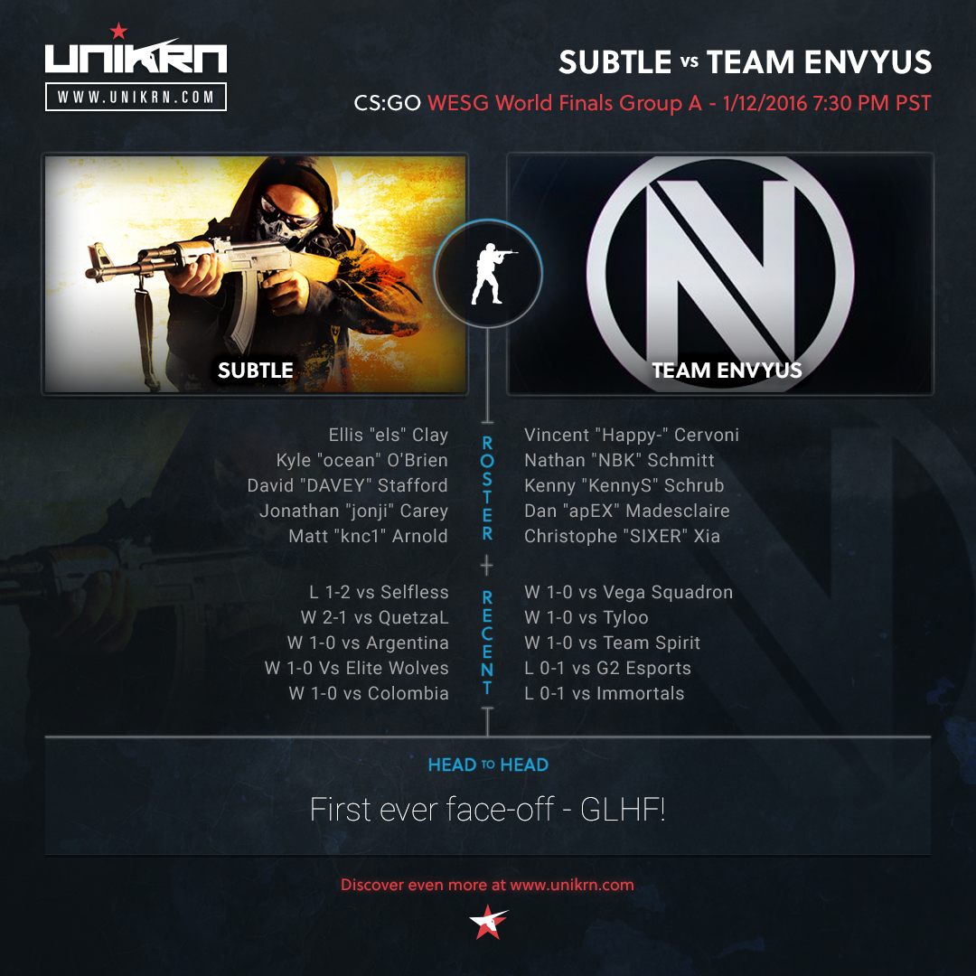 subtLe vs Team EnVyUs at WESG