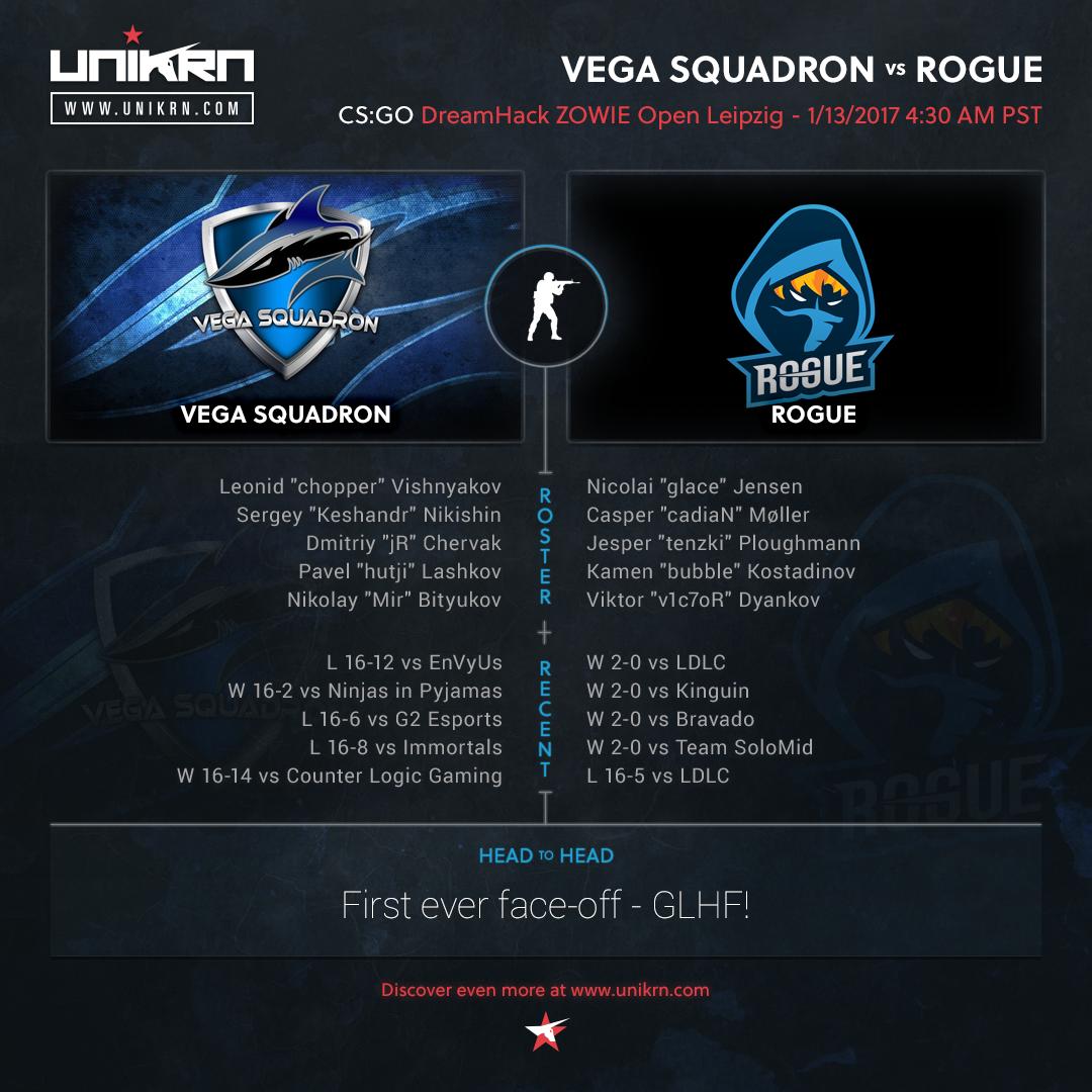 Vega Squadron vs Rogue at DreamHack Leipzig 2017