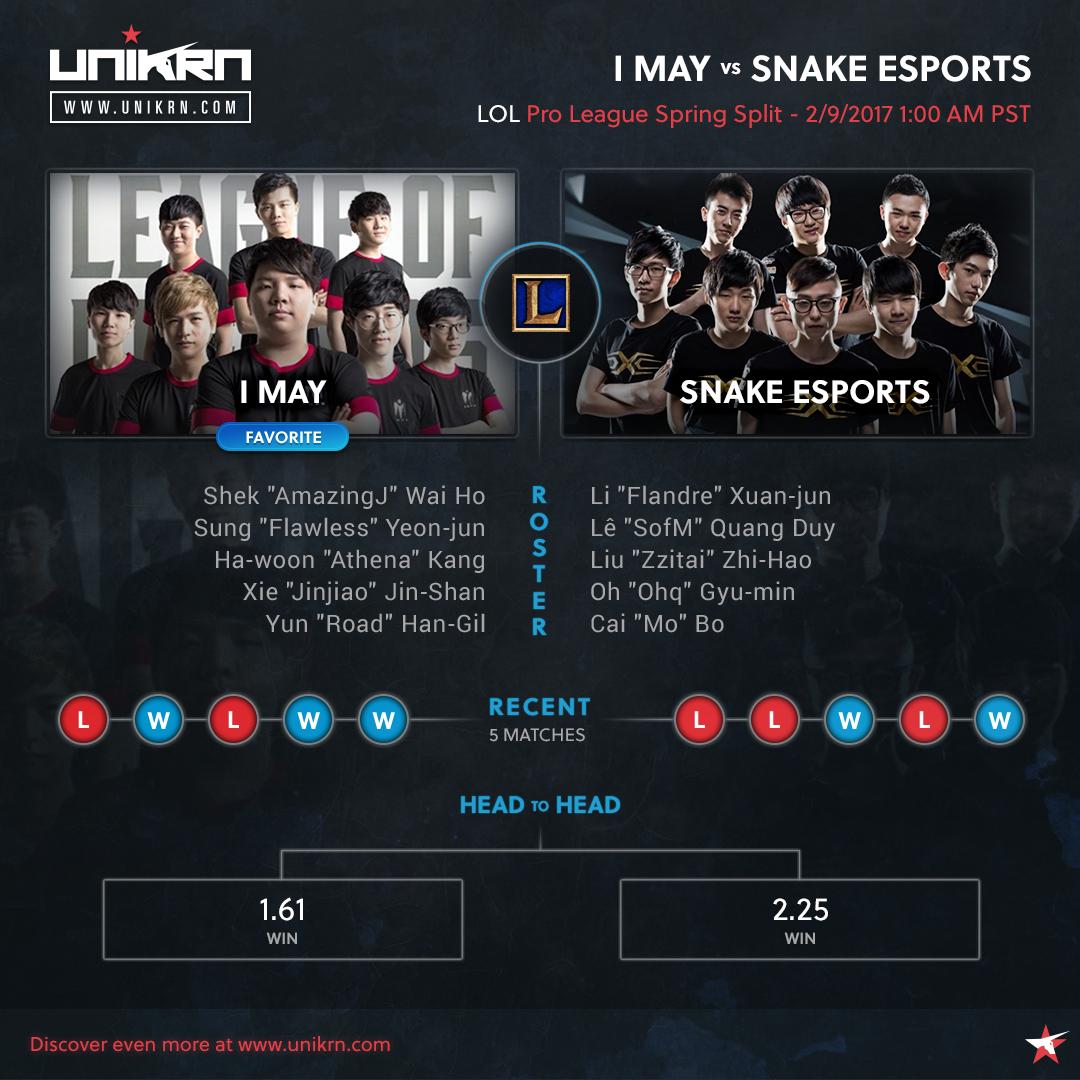 I May vs Snake Esports at LPL Spring Split