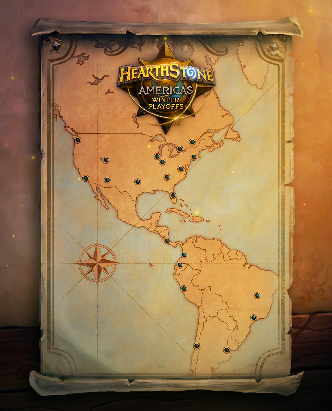 Americas HCT Winter Playoffs 2017 - Venue Locations
