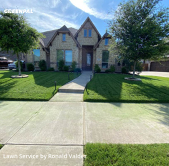 Lawn Cuttingin De Soto,75115,Lawn Mow by Valdez Lawn Care, work completed in Jul , 2020