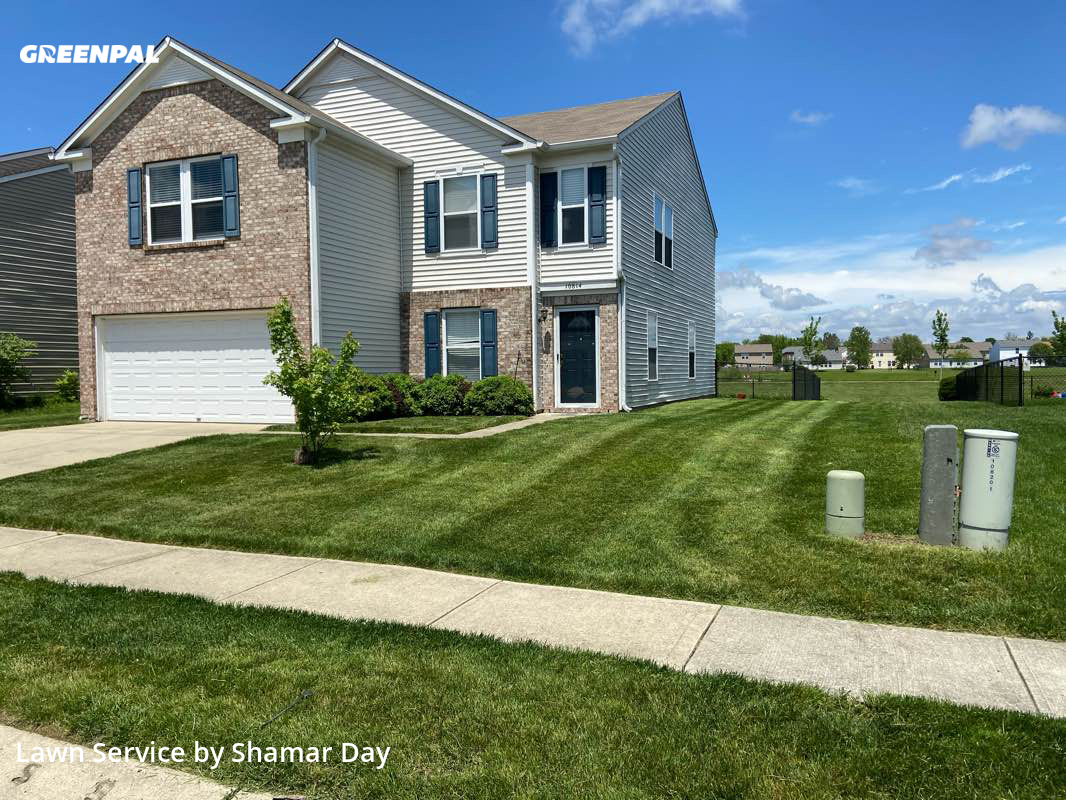 Yard Cuttingin Indianapolis,46259,Lawn Care Service by Day&Mannzservicesllc, work completed in Sep , 2020