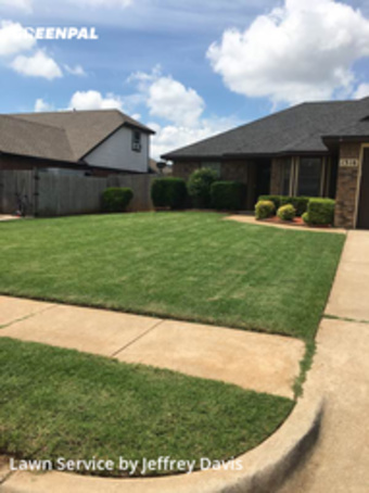 Lawn Cutin Moore,73160,Grass Cutting by Davis Family Lawn Care, work completed in Sep , 2020