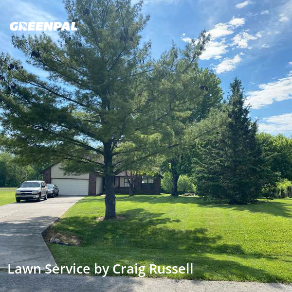 Lawn Carein Greenfield,46140,Yard Cutting by Acr Prop. Management, work completed in Aug , 2020