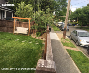 Lawn Servicein Tacoma,98405,Grass Cutting by A Kut Above , work completed in May , 2020