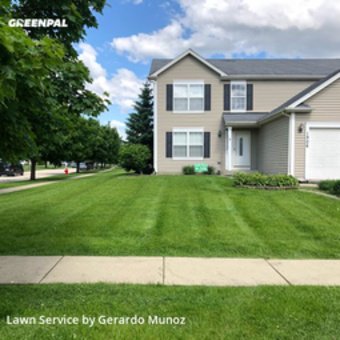 Lawn Maintenancein Joliet,60431,Grass Cutting by Unrivaled Landscaping, work completed in Jul , 2020