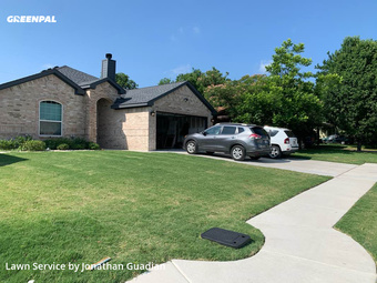 Lawn Mowing Servicein White Settlement,76108,Grass Cut by Lawns By G, work completed in Sep , 2020