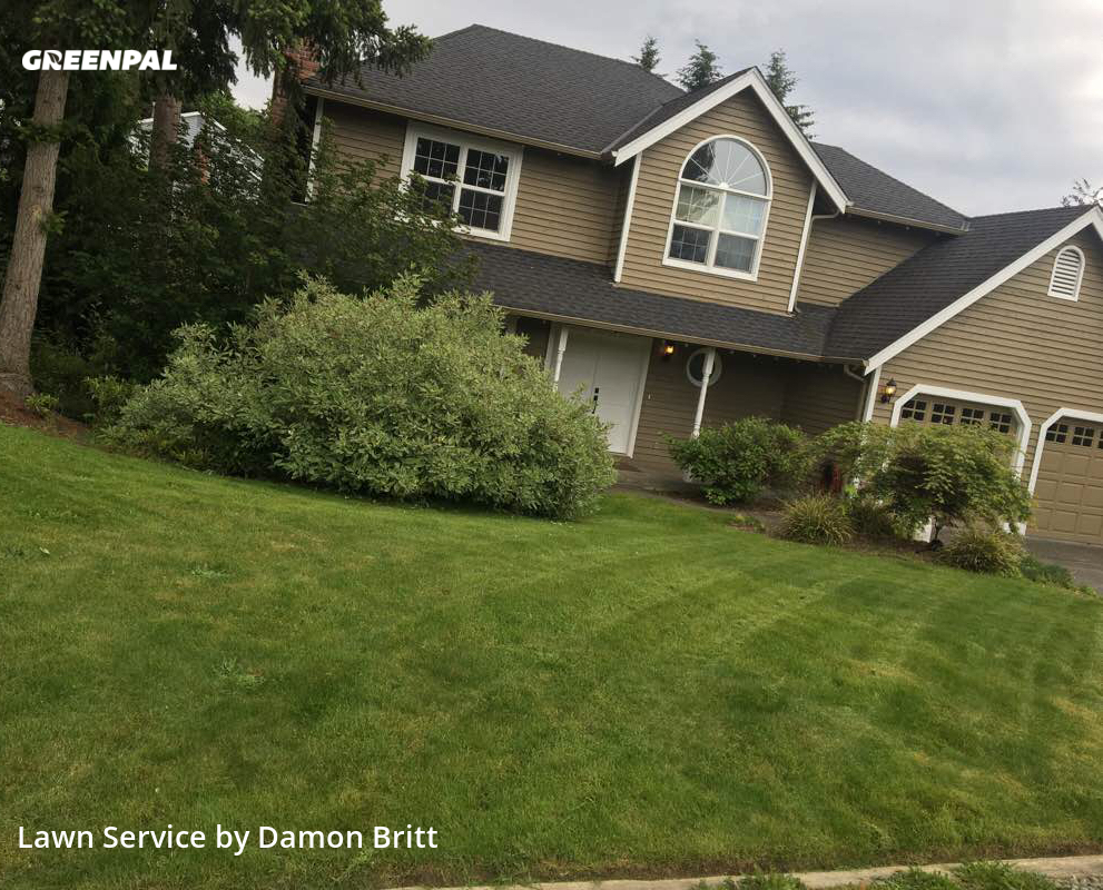 Lawn Carein Redmond,98052,Grass Cut by A Kut Above , work completed in Aug , 2020
